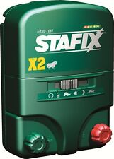 Stafix X2 Energizer 20 Mile Fence Charger. AC/DC Powered 80 Acres