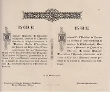 1900 Faire-part mariage Hippolyte MARCAILHOU d'AYMÉRIC - d'AUDIBERT de LUSSAN.