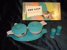 Vintage...Retro..Plastic Hostessware...Salt & Pepper Shakers & Cream & Sugar Set