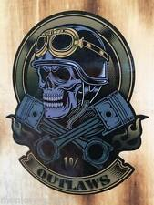 NEW 1% Outlaws Oldschool Skull Aufkleber / Sticker Biker Bobber Chopper Retro