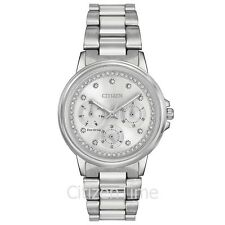 -NEW- Citizen Ladies Silhouette Crystal Eco-Drive Watch FD2040-57A