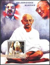 Guinea Bissau 2003 Pope John Paul II/Gandhi/Dalai Lama/King/People m/s n41406