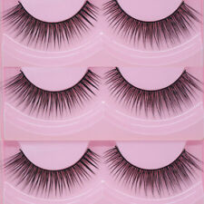 New 10 Pairs Natural Cross Eye Lashes Extension Makeup Long False Eyelashes