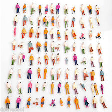 100PCS Painted Model People Train Building Layout Painted Figures (1:100)