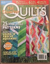 Quilts Fat Quarter Must Make Patterns Designer Tips Fall 2014 FREE SHIPPING!