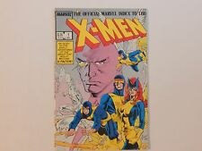 The Official Marvel Index To The X-Men #1 Marvel 1987 Comic Book VG/FN