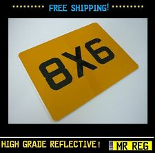"MOTORBIKE MOTORCYCLE   REGISTRATION NUMBER PLATE SIZE 8"" X 6"" CUSTOM SHOW PLATE"