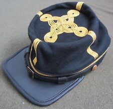 CIVIL WAR US UNION BLUE WOOL OFFICER KEPI FORAGE CAP HAT-LARGE