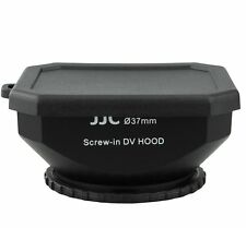 JJC LH-DV37B BLK 37mm Screw-in DV Camcorder Square Lens Hood with Cap and Strap