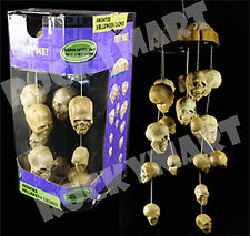 Animated Halloween HAUNTED SKULL WIND CHIMES