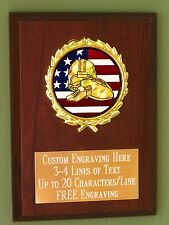 Football/Sport/Flag Award Plaque 4x6 Trophy FREE engraving