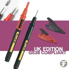 Fluke TP175E Twist Guard Test Probes and AC285 Crocodile / Alligator Clip Set