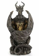 "9.5"" Armoured Dragon with LED Night Light Statue Fantasy Home Decor Figure"