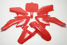 RED BODY PLASTIC FAIRING PLASTIC 49cc 50cc 70cc 90cc 110cc 125cc Dirt Bikes Part