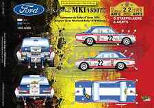 [FFSMC Productions] Decals 1/43 Ford Escort MK1 1600TC Rallye d'Ypres 1970
