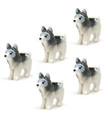 LEGO 5 pcs NEW HUSKY DOG Pet Animal Sled Snow Arctic Wolf White Grey Minifigure