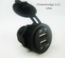Weatherproof Universal USB Charger Adapter Socket 12 V to 5 V Outlet Power Jack