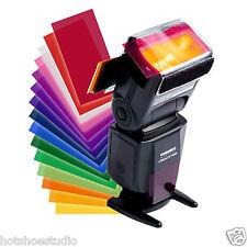 12pcs Flash Diffuser Lighting Gel Pop up Color Card Correct Filter For Speedlite
