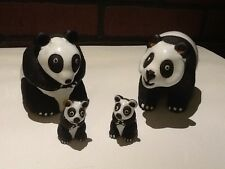 Vintage Casals Pottery Peru - Ceramic and Clay Panda Family