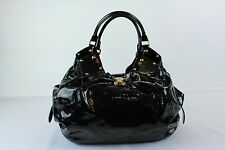 Louis Vuitton Black Patent Mahina Leather Handbag Purse Shoulder Bag