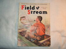 VINTAGE MAGAZINE-FIELD & STREAM-JUNE-1931-BASS FISHERMAN WITH TROPHY HOOKED