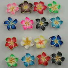 100 PCS Mixed Color Fimo Polymer Clay Flower Beads 20mm