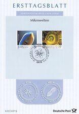 BRD 2015: Micro mondi! solo tag foglio nr 3192+3193 con Bonner timbro speciale! 1603