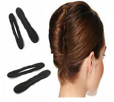 2 XBLACK MAGIC foam sponge capelli Styling Ciambella CHIGNON MAKER EX French Twist Strumento