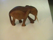 "Beautiful Elephant Solid Wood Carving Figurine   Hand Carved 5""x7"""