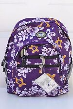 Hawaiian Lauhala Turtle Print School Travel Beach Hiking Backpack PURPLE H-02P