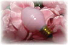 NEW ~Pink Silicone Swirl~ 2 Pk Night Light or Candle Lamp Bulbs