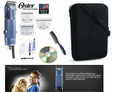 OSTER Turbo A5 2 Speed Clipper 10,5F&10 WIDE Blade,Case,DVD,Comb Dog,Sheep,Horse