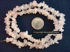Natural rose quartz beads for beading medium size chip beads 16 in strand sb002