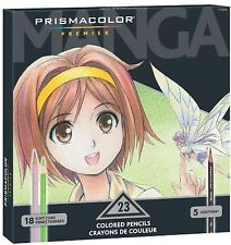 Prismacolor Premier Soft Core Colored Pencil Set 23 Assorted Manga Colors Art