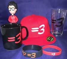 Rare Lot Ray William Johnson = 3 Youtube Show Hat Mug Glass Bobble Head Bracelet