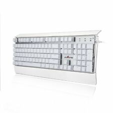 Velocifire T11 Mechanical LED Backlit 104 Key Transparent Keyboard Brown Switch