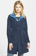 Weekend by Maxmara Blue Davy Paint Print Reversible Coat was £335 BRAND NEW