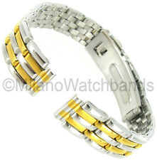 10mm Hirsch Two Tone Stainless Steel Push Open Clasp Ladies Watch Band 0510