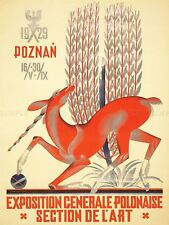 ADVERTISING EXHIBITION POLISH NATIONAL EXPOSITION UNICORN WHEAT POSTER LV835