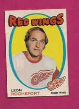 1971-72 OPC # 135 RED WINGS LEON ROCHEFORD  EX-MT  CARD  (INV#3031)
