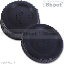 New Type DX FX Rear Lens Cap+Camera Body Cover fr Nikon D90/D80/D70/D70S/D60/D50