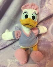 Daisy Duck Disney Plush Pink Bow, Bean Bag  Shoes, Purple Shirt 9 inches