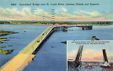 Duluth MN Arrowhead Jack Knife Bridge Postcard 1930s