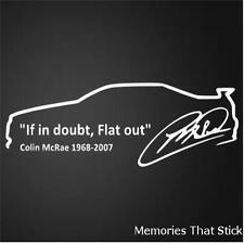 Colin McRae in Car Funny Car Window Bumper JDM VAG Novelty Vinyl Decal Sticker
