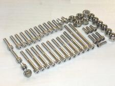 Yamaha YZ250 1982-7 Engine Covers 39pc Stainless Allen Bolts Cylinder Dome Nuts