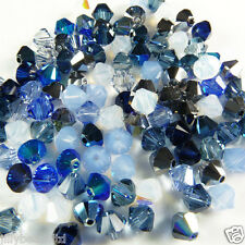 SWAROVSKI 5328 Xilion Bicono mescola 4mm Blues 100 Beads