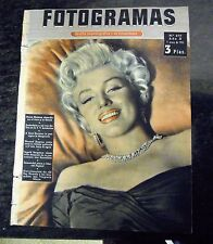 "MARILYN MONROE:VINTAGE SPANISH MAGAZINE UNIQUE COVER-""FOTOGRAMAS"" 1955-SEE!!"