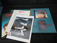 Queen Miracle UK CD Cassete Tape Press Release in Promo only Box Freddie Mercury