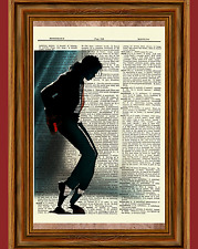 Michael Jackson Dictionary Art Print Book Picture Poster Thriller Billie Jean