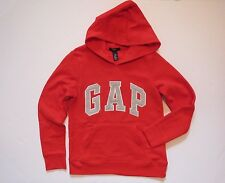 NWT Girls GAP KIDS Red Pullover Arch Logo Fleece Hoodie Sweatshirt Size XL 12